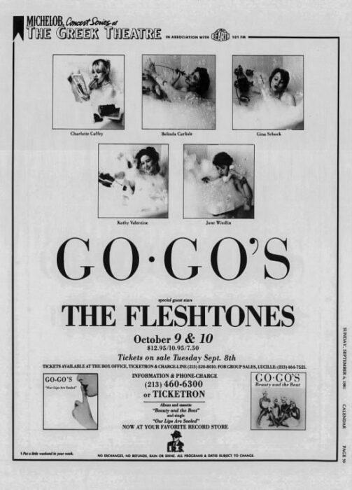 Go-Go's ad