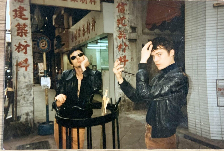 BRETT AND NEIL IN HONG KONG '97 - PHOTO BY JANE SAVIDGE