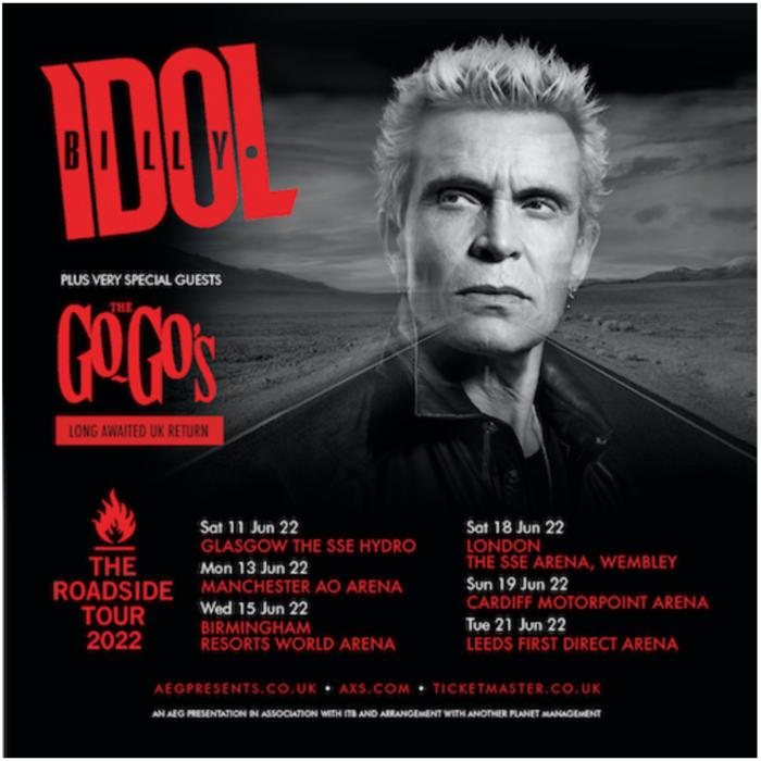 Billy Idol announces 2022 UK arena tour