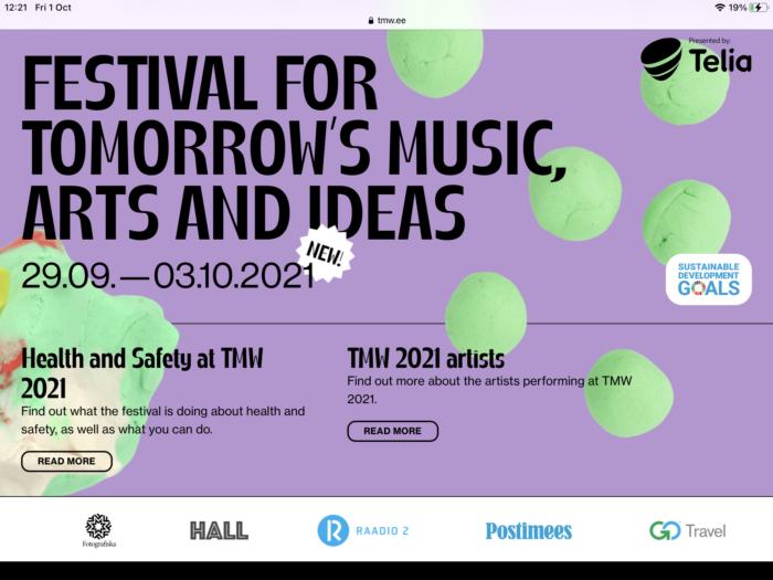 Tallinn Music Week 2021 opening night : live review 'where modern classical meets dark matter electronics'