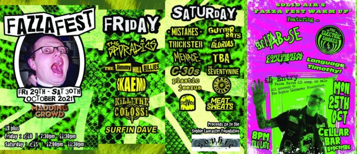 2-day Bournemouth Punk Festival, FazzaFest on 29th & 30th October