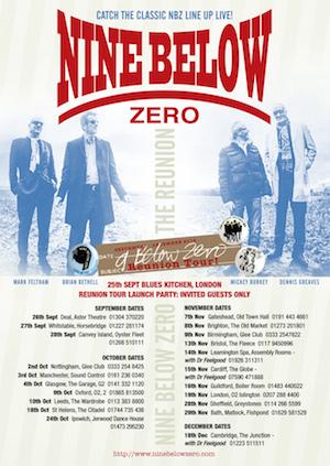 Nine Below Zero Announce Classic Line-Up Reunion Tour