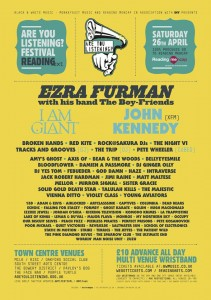 Ezra Furman & I Am Giant preparing to rock at Reading's Are You Listening? Festival This Saturday