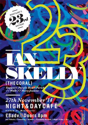 Ian Skelly | Purple Heart Parade: The Night and Day Cafe, Manchester – live review