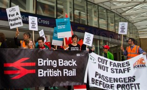 Rail fares shoot up again. Protest now! Campaigners adopt protest song.