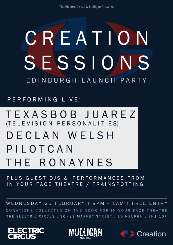 New Creation Sessions Night In Edinburgh To Launch With JAMC Aftershow Party