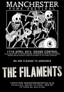 The Filaments to headline the Manchester Punk Festival 2015…