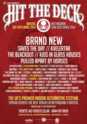Hit The Deck Festival Returns to Bristol and Nottingham in April, this year headlined by Brand New