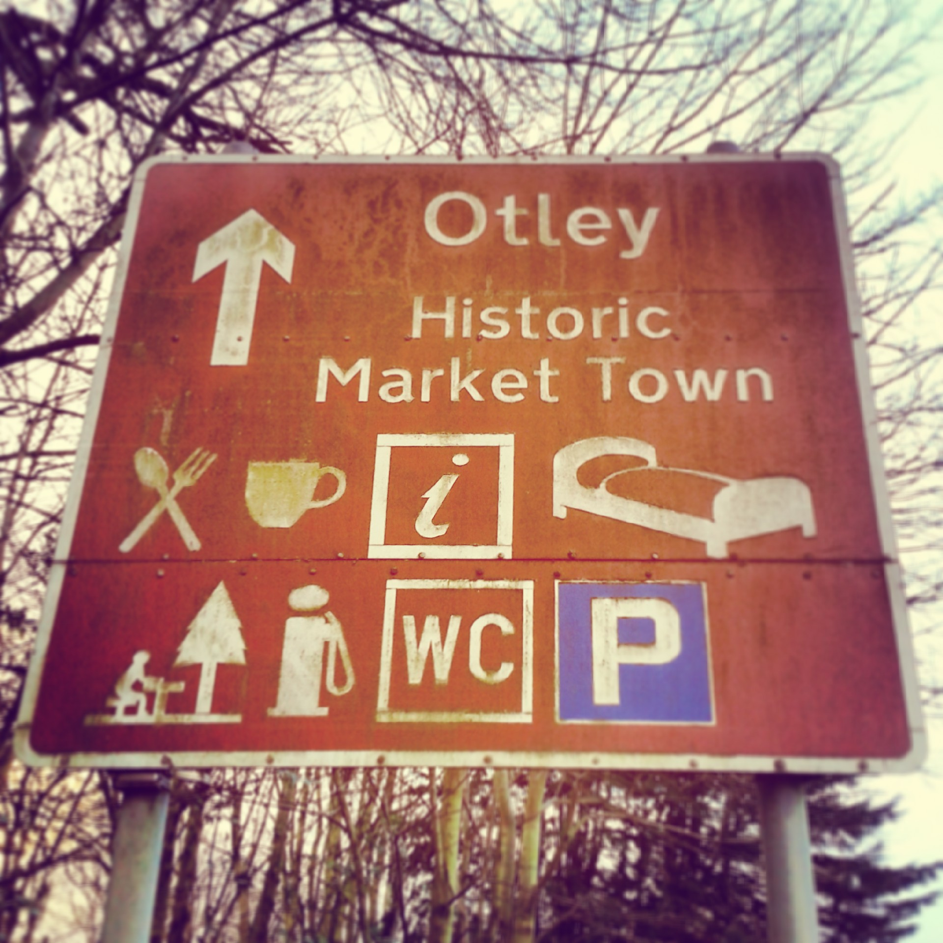Otley town sign