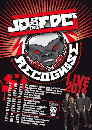 Misfits to tour UK with support from JD and The FDC's