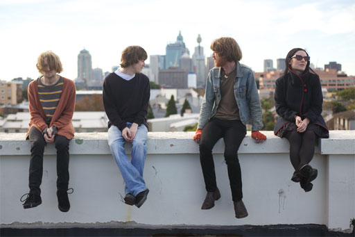 The Laurels on a rooftop press shot