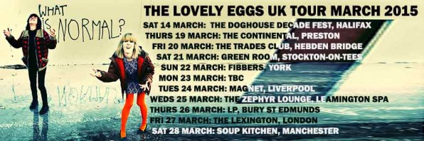 The Lovely Eggs announce UK Tour and new album….