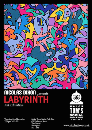 Louder Than War Announce Nicolas Dixon's Upcoming Exhibition 'Labyrinth'