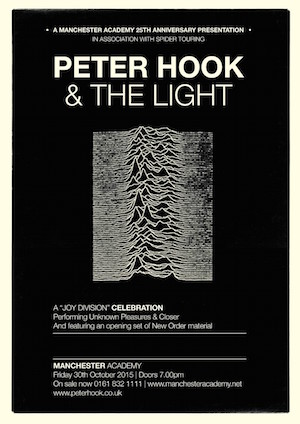 Peter Hook & The Light To Perform Joy Division albums As Part Of Manchester Academy's 25th Anniversary Celebrations