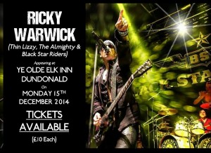 Black Star Riders Ricky Warwick Marks End of Pledge Music Campaign With Intimate Homecoming Gigs