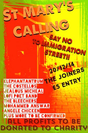 St Marys Calling: Protest Gig against Channel 4's Immigration Street
