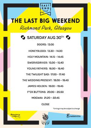East End Social's Last Big Weekend: Richmond Park, Glasgow – live review