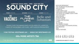 Liverpool Sound City Festival announces conference speakers inc Wayne Coyne, Julian Cope & Viv Albertine…