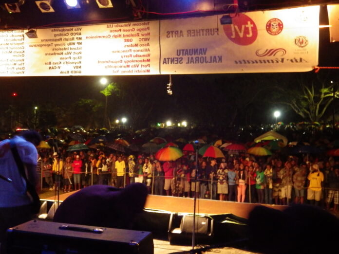 View from the stage at Festival Napuan