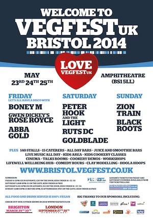 VegFest 2014 announces line-up inc Peter Hook, Ruts DC, Goldblade and…Boney M!!