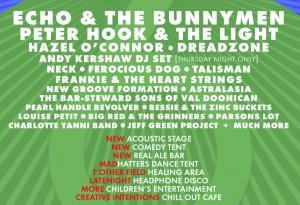 Willow man announces bill peter Hook/Bunnymen