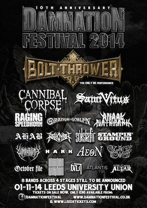 Damnation Festival Announces More Bands To Play Alongside Headliners Bolt Thrower