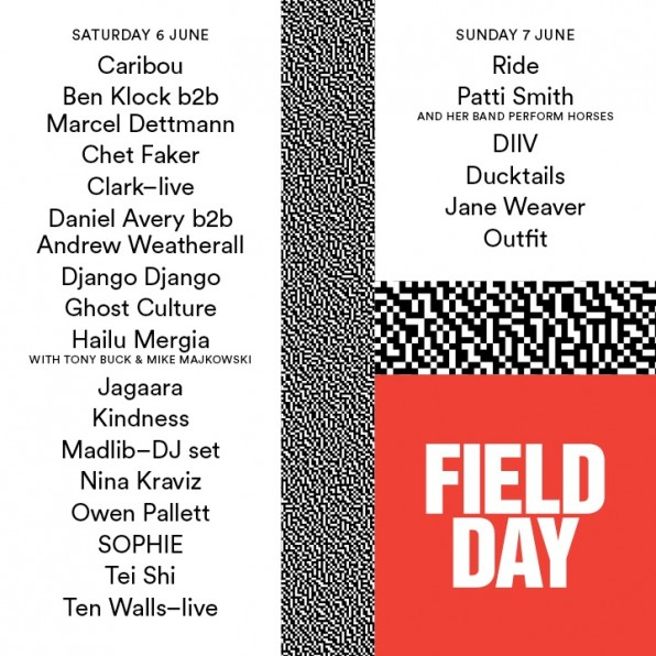 Patti Smith, Ride and Caribou announced for Field Day 2015