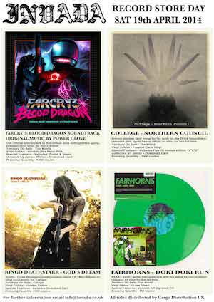 INVADA Record Store Day 2014 Sampler Stream – eight great tracks from four great releases