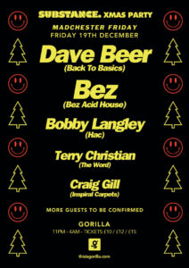 special Madchester xmas party on Dec19th at Manchester Gorilla