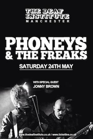 Recommended! Phoneys and The Freaks, a brand new collaboration between Paul 'Bonehead' Arthurs and singer/songwriter Alex Lipinski play debut show
