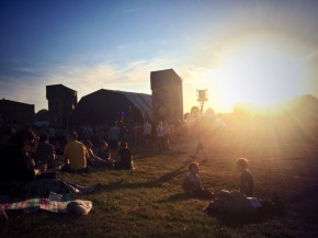Indietracks 2014 main stage at sunset