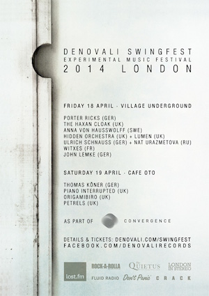 Denovali Swingfest London 2014 – great experimental music festival announces knockout lineup plus free 22 track download