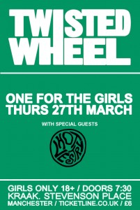 win tickets! Twisted Wheel to play a girls only show as part of their Manchester season plus interview with band