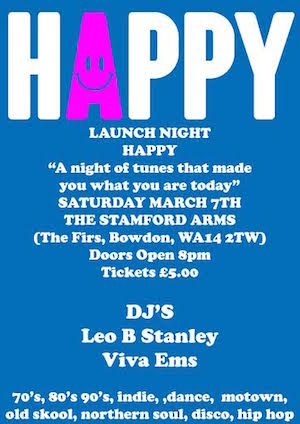 Interview: Leo Stanley, Tracey Donnelly & Chris Donnelly talk to us about a new Manchester dance night 'HAPPY'
